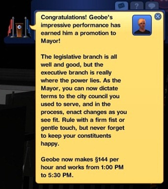 geobe is now mayor